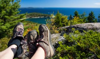 Summer Hiking near Bar Harbor