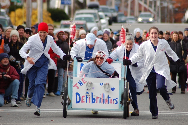 Bar Harbor Pajama Sale and Bed Races