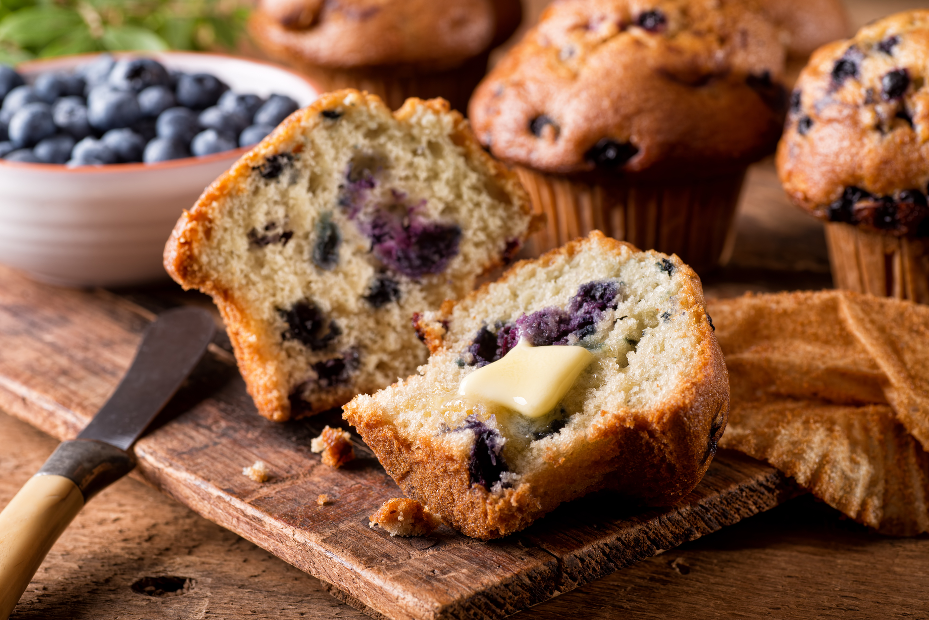 Stay at Home Recipes- Maine Blueberry Muffins